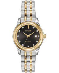 Citizen - Ladies Two Tone Bracelet Stainless Steel Eco-drive Watch Ew2394-59e - Lyst