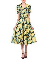 Jolie Moi - Multicoloured Banana Print Short Sleeved Tea Dress - Lyst