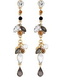Matthew Williamson - Gold Baroque Crystal Drop Earrings - Lyst