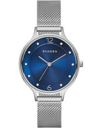 Skagen - Ladies Steel Mesh 'anita' Watch Skw2307 - Lyst