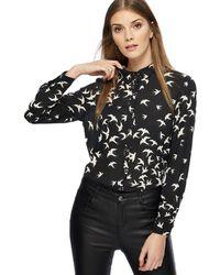 Red Herring - Black Swallow Print Shirt - Lyst