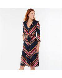 Monsoon - Blue 'sylvia' Stripe Shirt Dress - Lyst