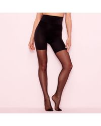Aristoc - Black 10 Denier Hourglass Tights - Lyst