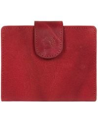 Conkca London - Dark Red 'jules' Handcrafted Leather Rfid Purse - Lyst