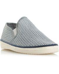 Bertie - Grey 'fresh' Mesh Detail Espadrille Shoes - Lyst