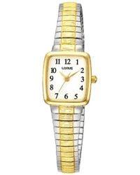 Lorus - Ladies Two Tone Expandable Bracelet Watch Rph58ax9 - Lyst