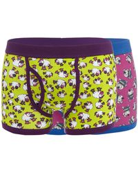 Red Herring - Pack Of Two Purple Sheep And Dog Keyhole Trunks - Lyst