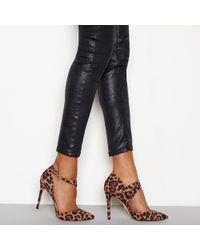 Faith - Tan 'chyna' Animal Print Stiletto Heel Pointed Shoes - Lyst