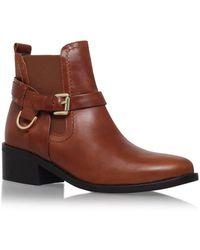 Carvela Kurt Geiger - Brown 'saddle' Mid Heel Ankle Boot - Lyst