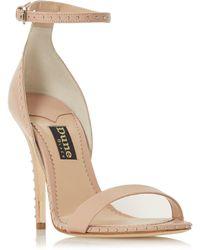 93b99a84b512 Dune Black - Natural Leather  monzaa  High Stiletto Heel Ankle Strap Sandals  - Lyst