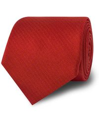 Tm Lewin - Orange Silk Tie - Lyst