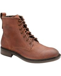 Frank Wright - Rust 'call' Oiled Suede Lace Up Boots - Lyst