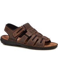 Lotus - Brown Leather 'hugh' Sandals - Lyst