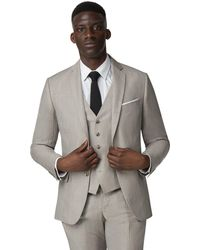 Racing Green - Oatmeal Linen Tailored Jacket - Lyst