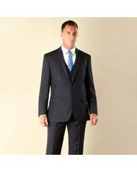 Racing Green - Navy Semi-plain Regular Fit 2 Button Suit Jacket - Lyst
