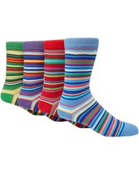 Red Herring - Pack Of 4 Multi-coloured Stripe Ankle Socks - Lyst