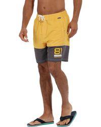 Regatta - Yellow 'brachtmar' Swim Shorts - Lyst
