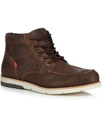 Levi's - Brown Leather 'dawson' Lace Up Boots - Lyst