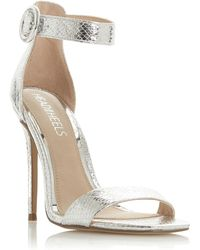 70d86931728a Public Desire Sense Spaghetti Strap Stiletto High Heels In Rose Gold ...