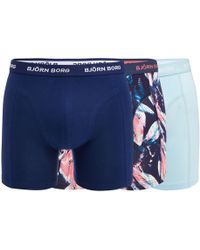Björn Borg - Pack Of Three Assorted Plain And Printed Trunks - Lyst