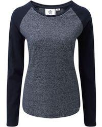 Tog 24 - Navy Marl Naomi Long Sleeve T-shirt - Lyst