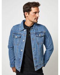 316bd3ed4fb Paul Smith Mens Western Midwash Denim Jacket in Gray for Men - Lyst