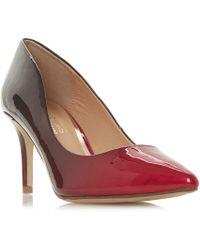 Dune - Red 'aisla' Mid Kitten Heel Court Shoes - Lyst