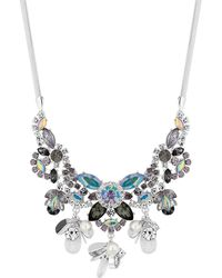 Red Herring - Multi Colour Crystal Floral Statement Necklace - Lyst