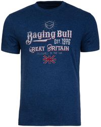 Raging Bull - Great Britain Denim T-shirt - Lyst