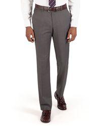 Ben Sherman - Mid Grey Pindot Plain Front Slim Fit Kings Suit Trouser - Lyst