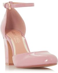 Dune - Mid Rose 'calipso' High Block Heel Court Shoes - Lyst