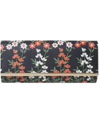 Dorothy Perkins - Black Embroidery Print Curved Clutch Bag - Lyst