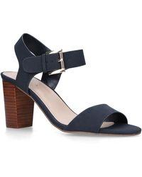 cd38e8796a8 Navy 'sadie' Block Heel Sandals