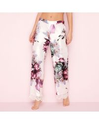 Ted Baker - Pink Posy Print Satin 'ethereal' Pyjama Bottoms - Lyst