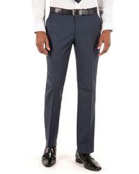 Ben Sherman - Deep Blue Puppytooth Plain Front Slim Fit Kings Suit Trouser - Lyst