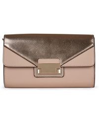 f6d72e6911 Ted Baker Beckee Porcelain Rose Clutch Bag in Pink - Lyst