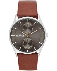 Skagen - Holst Mens Leather Watch Skw6086 - Lyst