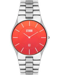 Storm - Men's Silver 'slim-x Xl' Analogue Bracelet Watch - Lyst