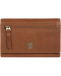 Conkca London - Tan 'ling' Handcrafted Leather Purse - Lyst