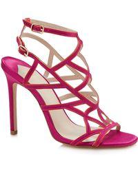 Faith - Pink 'latoya' High Stiletto Heel Ankle Strap Sandals - Lyst