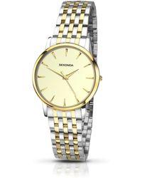 Sekonda - Ladies Gold And Silver Analogue Bracelet Watch 2339.28 - Lyst
