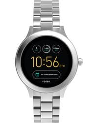 Fossil - Venture Silver Stainless Steel Smart Watch - Lyst