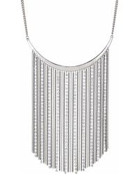 Red Herring - Silver Multi Chain Drop Necklace - Lyst