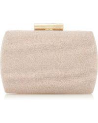 402b45c3031 Dune Gold 'beverlie' Hard Case Box Clutch Bag in Metallic - Lyst