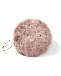 761e890bd7 Miss Selfridge - Mink Faux Fur Circle Clutch - Lyst