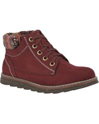 Lotus - Wine Red 'sequoia' Ankle Boots - Lyst