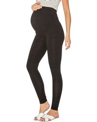 Dorothy Perkins - Maternity Black Cotton Over The Bump Leggings - Lyst