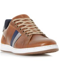 Dune - Tan 'theo' Contrast Panel Trainers - Lyst
