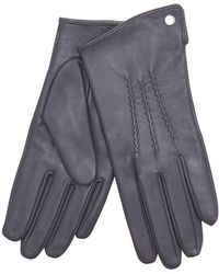 J By Jasper Conran - Grey 3 Point Leather Gloves - Lyst
