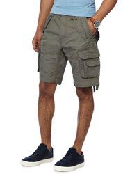 Racing Green - Khaki Regular Fit Cargo Shorts - Lyst